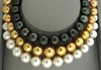 Cohen Brothers Jewelry White, Golden and Black South Sea Pearls Necklace