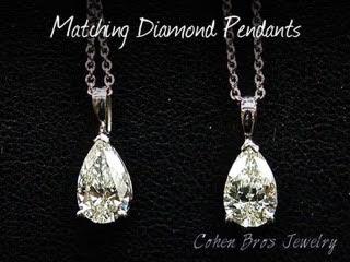 Cohen Bros Jewelry NY Matching Diamond Pendants